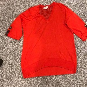 Michael kors sweater shirt-orange red color